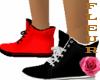 Black & red running shoe
