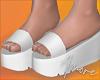 $ White Platform Slides