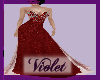 (V)Ruby beaded gown