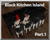 Black Kitchen Island 1.