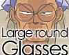 Large Round Glass Genma