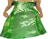 green snowflake gown