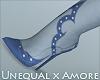 $ U x A Denim Heels