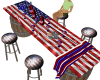 """) USA FLAG BARREL BAR"