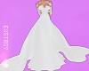𝓔. Formal Gown. White