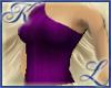 Off Shoulder Dark Purple