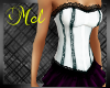 White Corset Black Lace