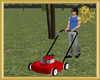 Animated Gas Lawn Mower