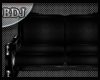 (J) Small Sofa Blk/Chrm