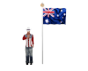 Australia flag w/ salute