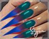 Ⓢ ColorFull Long Nails