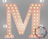 Rose Gold Letter Lamp M
