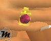 [F] Rose Zircon Ring