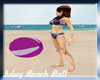 bday Purple Beach Ball