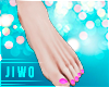 !J Pinku Nails Feet