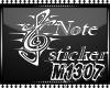 Note music sticker