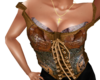 punk corsett brown