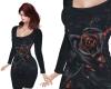 TF* Rose on Velvet Dress