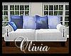 *OI* Blue & White Sofa 2