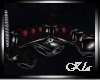 [K] Sofa Black-Red