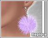 . fluff earring | pastel