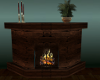 (T)Brown Stone Fireplace