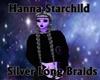 Silver long Braids