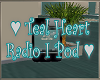 Teal Hearts Ipod Radio