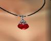 [LM]Gem necklace-red