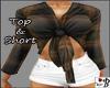 ~B~ Top & Short Brown