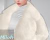 ▶︎Fur coat Off white