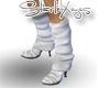 White Stiletto Legwarmer