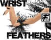 ~F~BW Wispy WristFeather