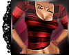 <3 Stripey Top Red