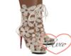 Flower Heels White