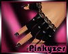 P! PVC Lace Black Gloves