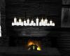Black Mantle & candles