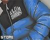 PUFFER SLUM BLUE