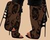 Lace Black Heels