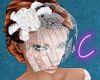 Diana Feathers Face Veil