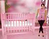 Pink Baby Crib