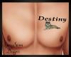 Destiny Chest Tat Custom