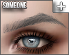 + pointed brows gray