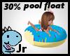 30% blue donut floatie