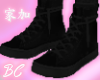 black n black lace shoes