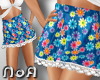 *NoA*Skirt Flower Blue