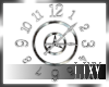 {LIX} Chrome Clock Decor