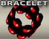 Red Bead Cuff Bracelets