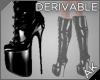 ~AK~ Black PVC Stilettos