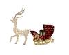 Reindeer Sleigh Lighted